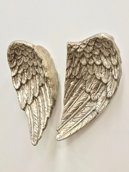Wings of Independence - ceramic silver