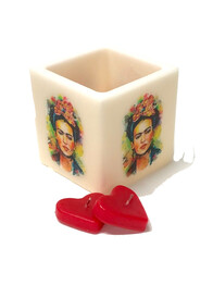 Candle Holder - Frida Motif