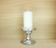 Pewter candle holder - complete with candle