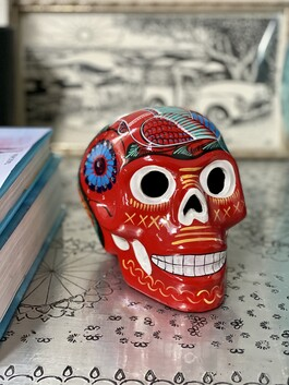 Day of the Dead Sugar Skull - ceramic