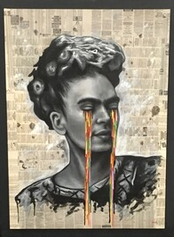 Frida Newsprint - for collection only