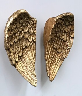 Wings of Independence - ceramic/gold leaf